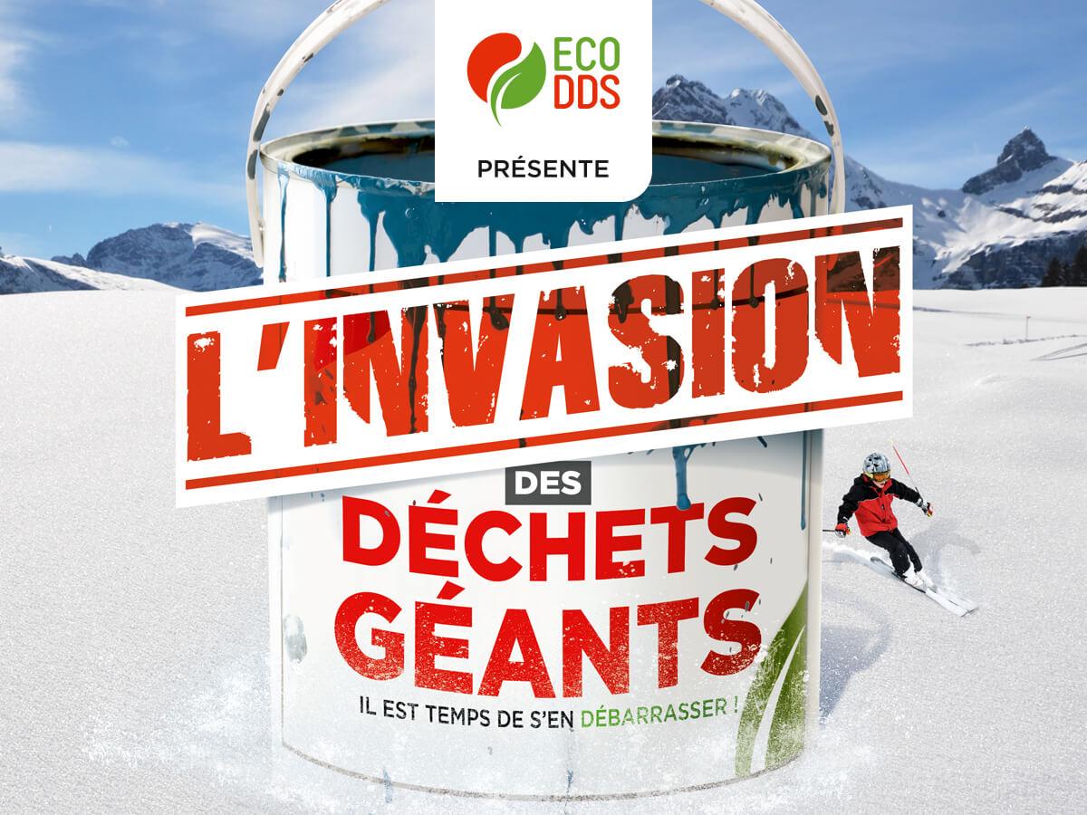 Tournée des déchets chimiques géants : 4 stations de ski sensibilisent au tri !