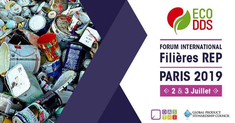 LES 2 ET 3 JUILLET PROCHAINS ECODDS PARTICIPE AU FORUM INTERNATIONAL DES FILIÈRES REP ORGANISÉ À PARIS